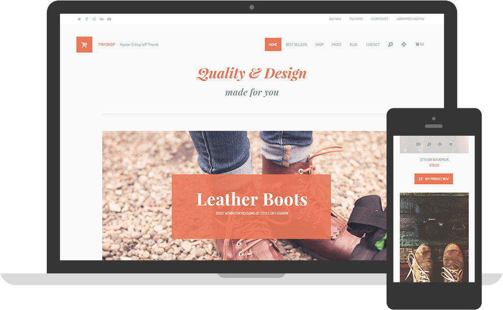 TinyShop Woocommerce WordPress Theme